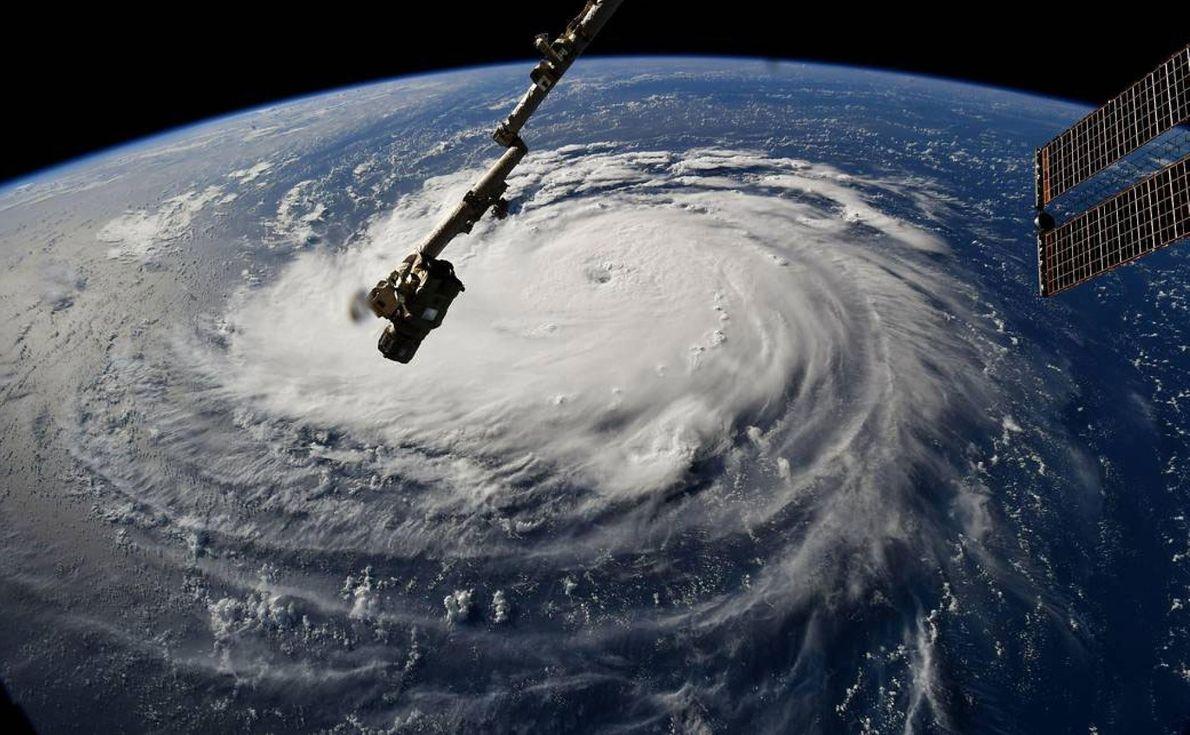 Le 10 septembre 2018, l'astronaute Ricky Arnold a saisi l'incroyable tourbillon créé par l'ouragan Florence depuis ...