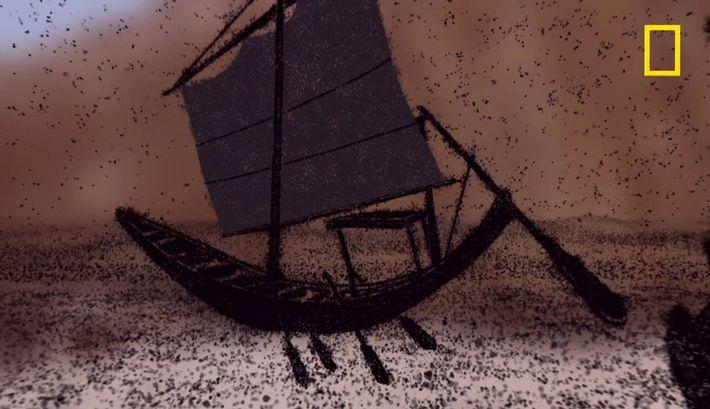 Pourquoi les tombeaux des pharaons possèdent des maquettes de bateaux ?