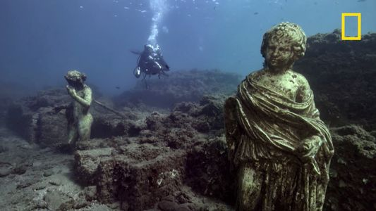 Exploration d'une cité romaine engloutie