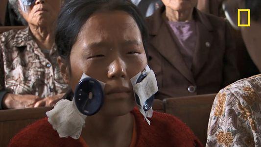 En Corée du Nord, la réaction inattendue d'une femme recouvrant la vue