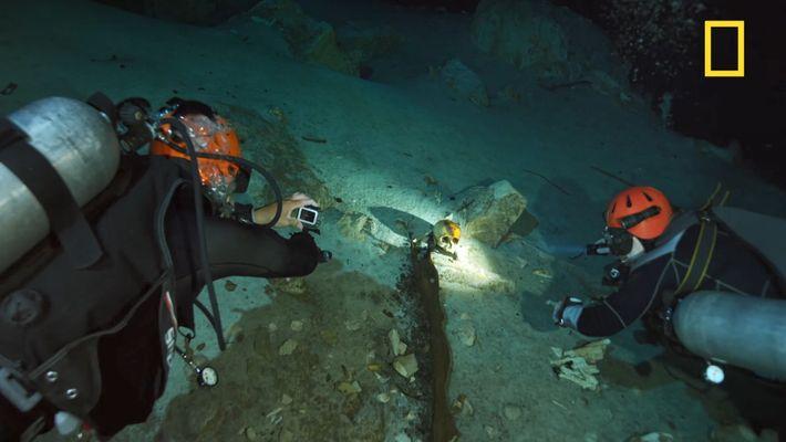 Découverte de restes humains lors d'une séance de plongée