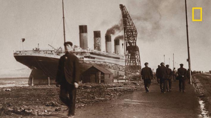 Voici les premières photos du Titanic, avant qu'il ne soit dévoilé au monde entier