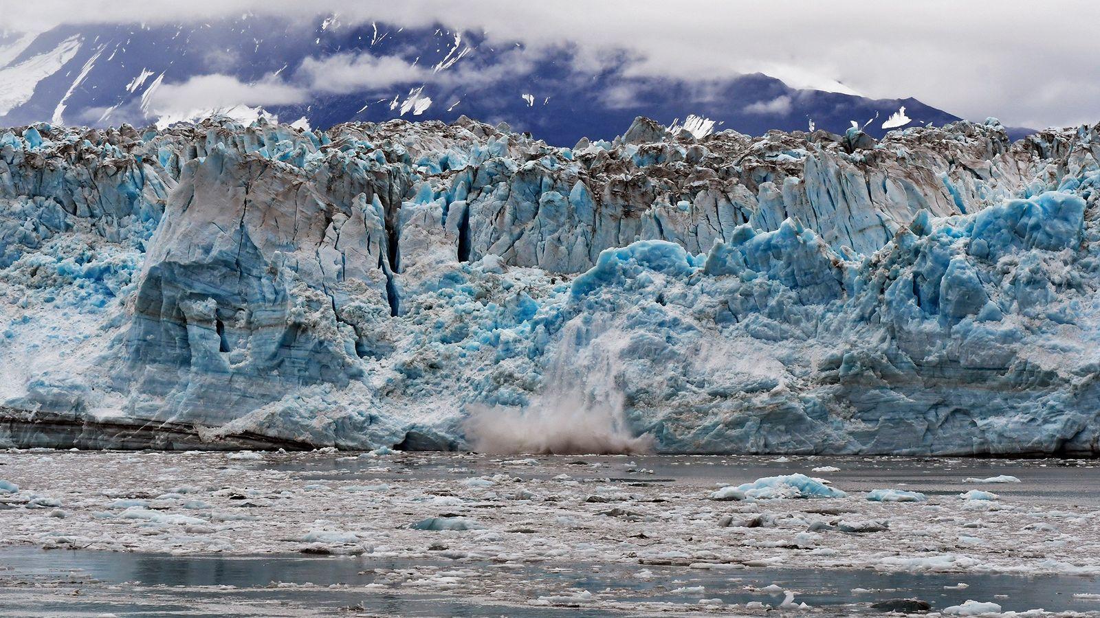 Les glaciers de marée, comme celui-ci en Alaska, enregistrent une fonte sous-marine 100 fois plus rapide ...