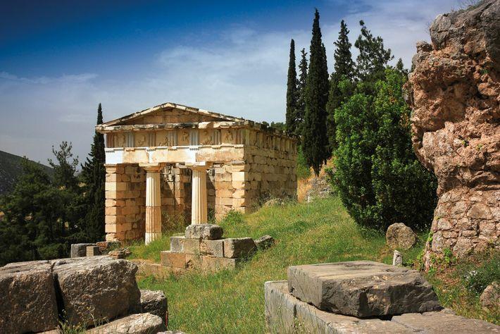 Le butin perse conquis à Marathon fut offert à Apollon par Athènes et conservé dans cet ...