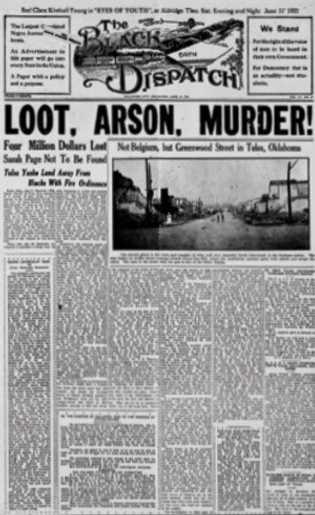 Les journaux de tous les États-Unis ont évoqué le drame. À Oklahoma City, l'hebdomadaire TheBlack Dispatch ...