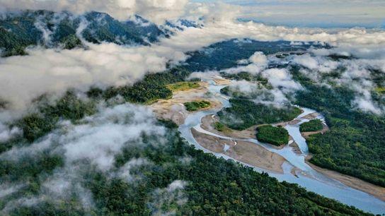 Un réseau fluvial permet d'accéder au parc
