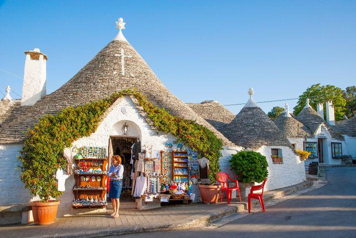 De nombreux trulli servent encore aujourd'hui de résidence ou de boutique.
