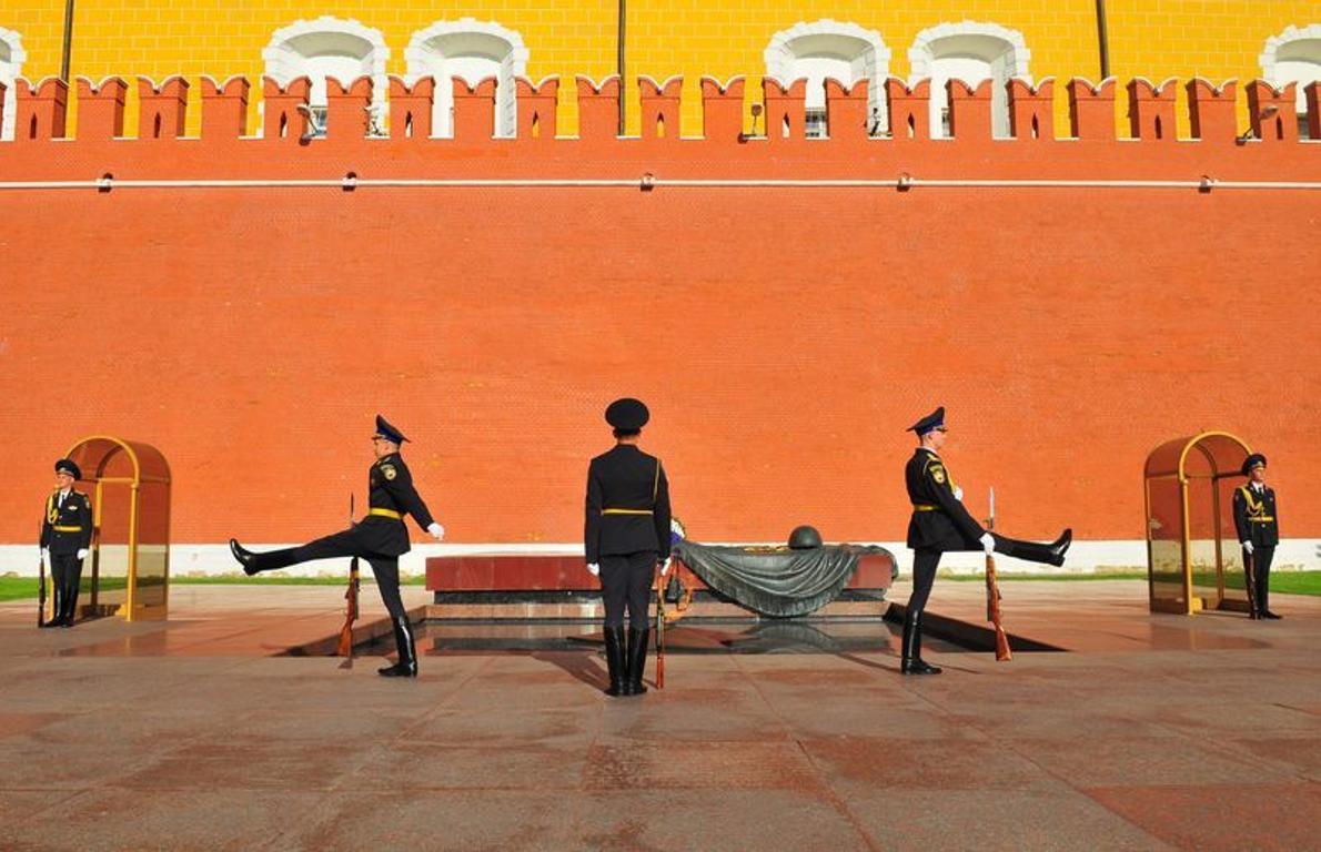 Relève de la garde au Kremlin.