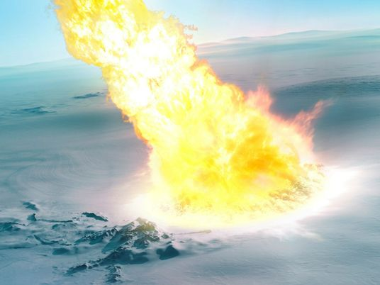 Une météorite a explosé au-dessus de l'Antarctique il y a 430 000 ans