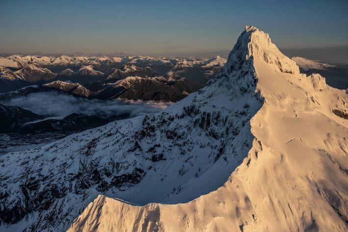 Le volcan Corcovad domine le parc national du même nom, au Chili. Feu Doug Tompkins, un ...