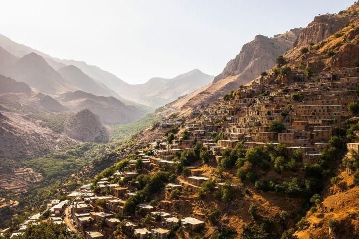 Kurdish village Hawraman in Kurdistan, Iran, Asia