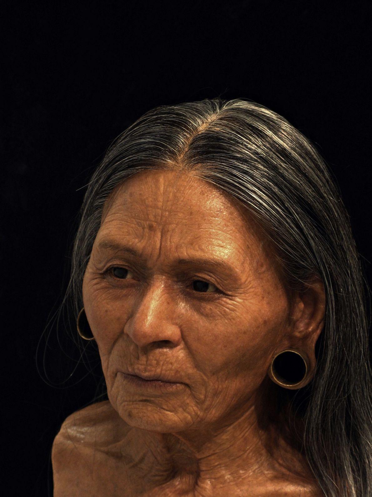 """La reconstitution du visage de la """"reine d'Huarmey"""" a été faite à partir des restes vieux ..."""