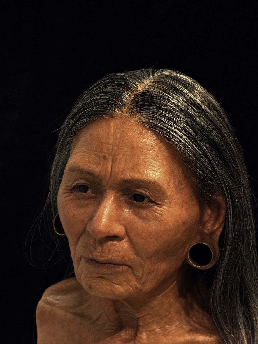 """La reconstitution du visage de la """"reine d'Huarmey"""" a été faite à partir des restes vieux …"""