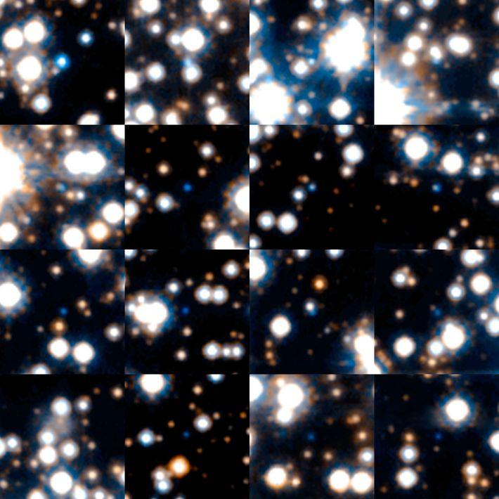 Des naines blanches lors d'un recensement astronomique réalisé par le télescope spatial Hubble de la NASA ...