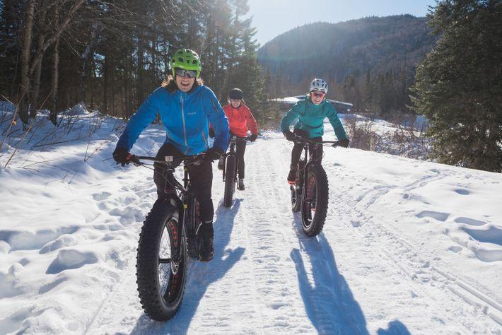 Le fatbike est un sport d'hiver qui gagne rapidement des adeptes au Canada et dans le ...