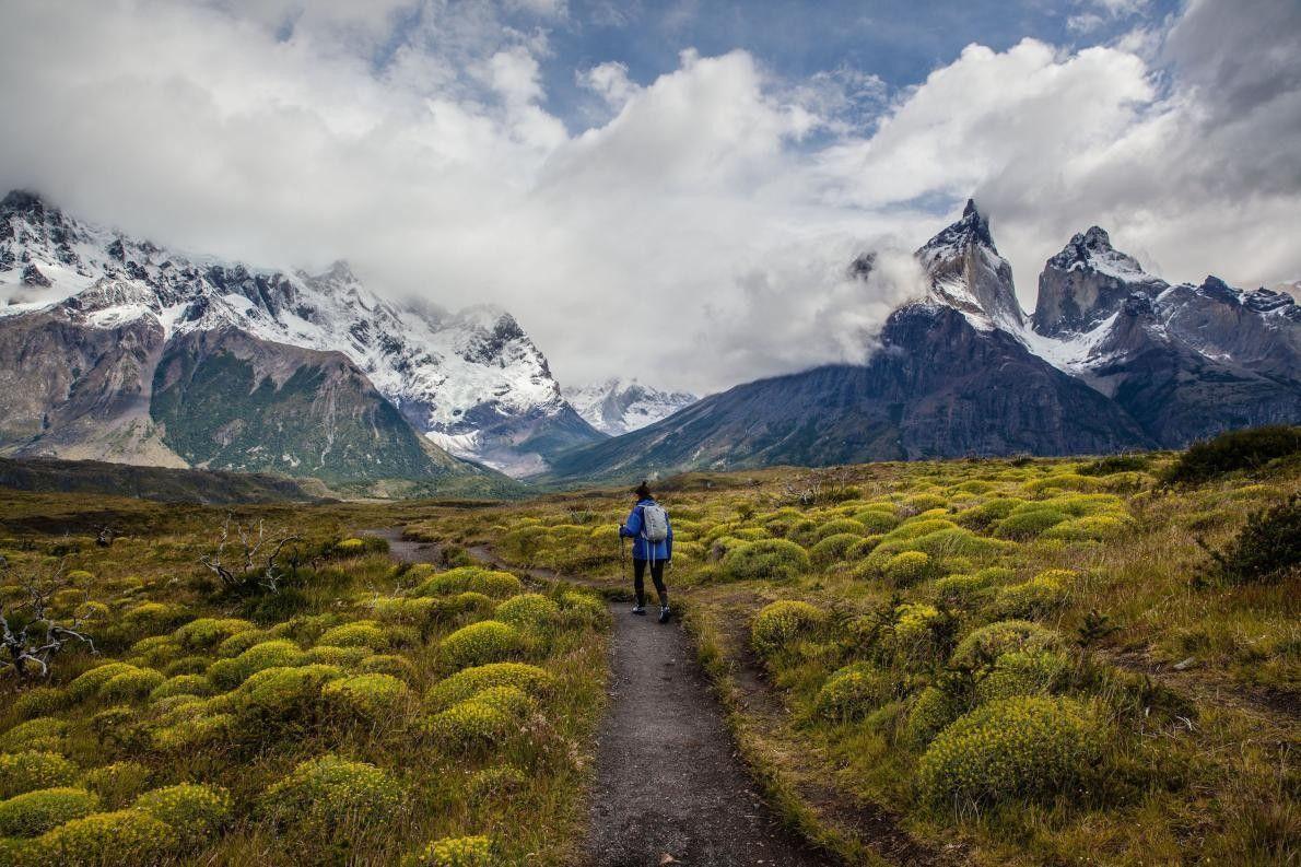 « Allie, ma femme, est en tête de notre randonnée dans le parc national de Torres ...