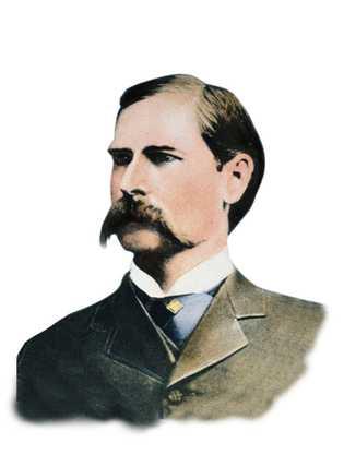 Photographie en couleur de Wyatt Earp, 19e siècle.