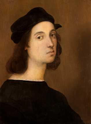 Fraîchement débarqué à Florence et âgé d'une vingtaine d'années, Raphaël a peint cet autoportrait sur bois ...