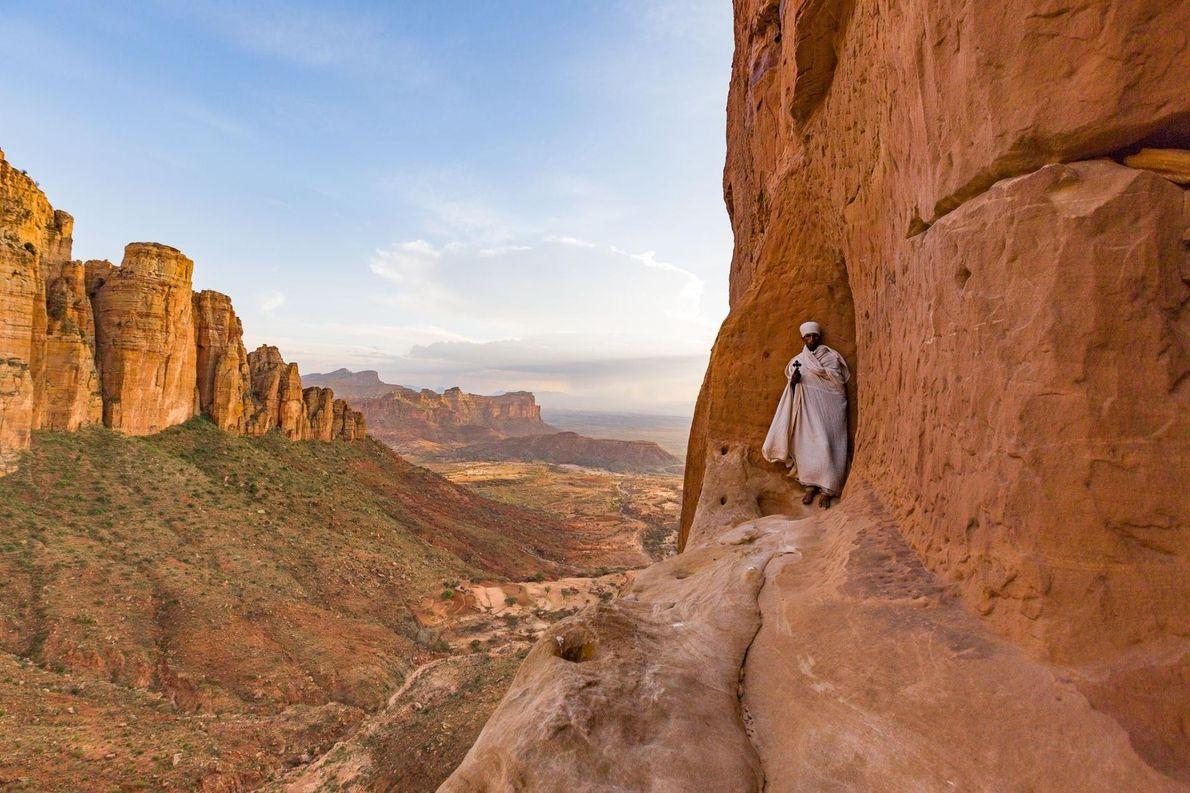L'église Abuna Yeamata Guh, en Éthiopie, est l'une des églises les plus difficiles d'accès d'Afrique. Pour ...