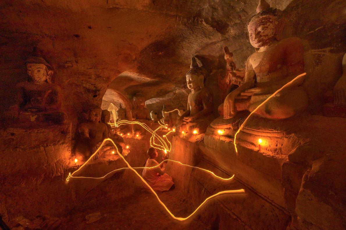 Datant du 14e siècle, la grotte bouddhiste de Hpo Win appartenait au peuple du même nom. ...