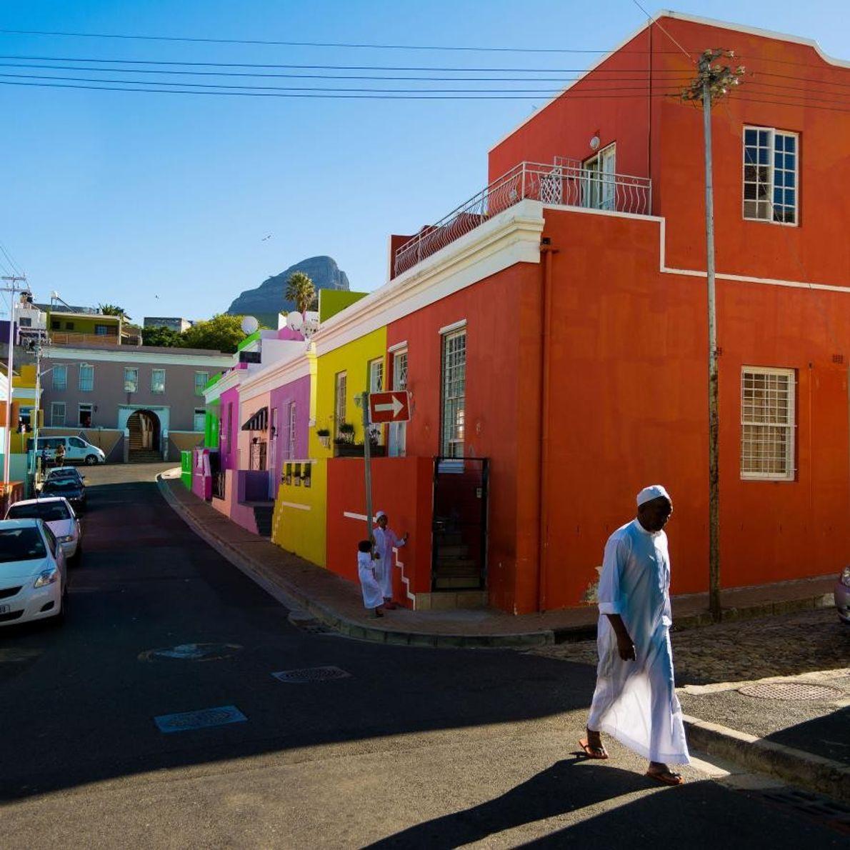 Les maisons colorées de BoKaap sont l'un des symboles de Cape Town. Le photographe Charlie Michael ...