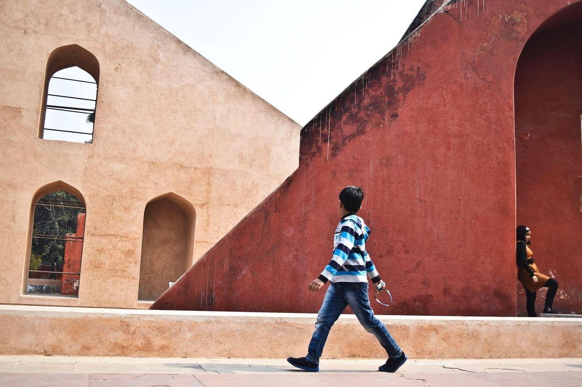 Jantar Mantar, l'observatoire astronomique de Jaipur a été érigé par Jai Singh II afin d'observer les ...